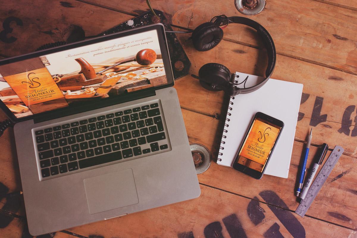 Création du site internet Atelier Seigneur (2013)