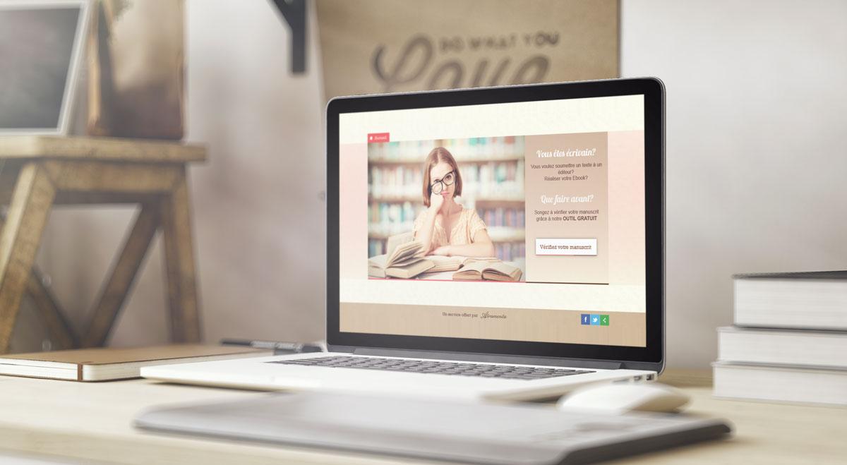 Création d'un mini-site pour la vérification des manuscrit pour Atramenta (2014)