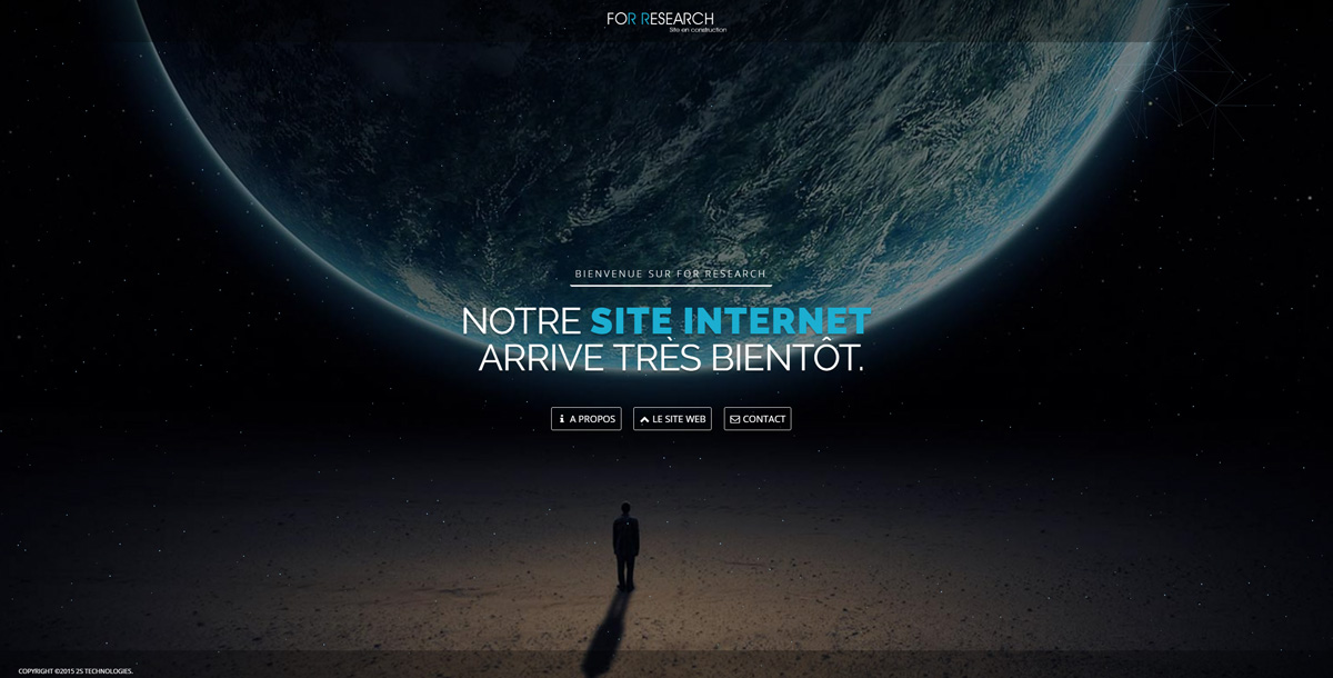 Mini-site de transition pour For Research (2015)