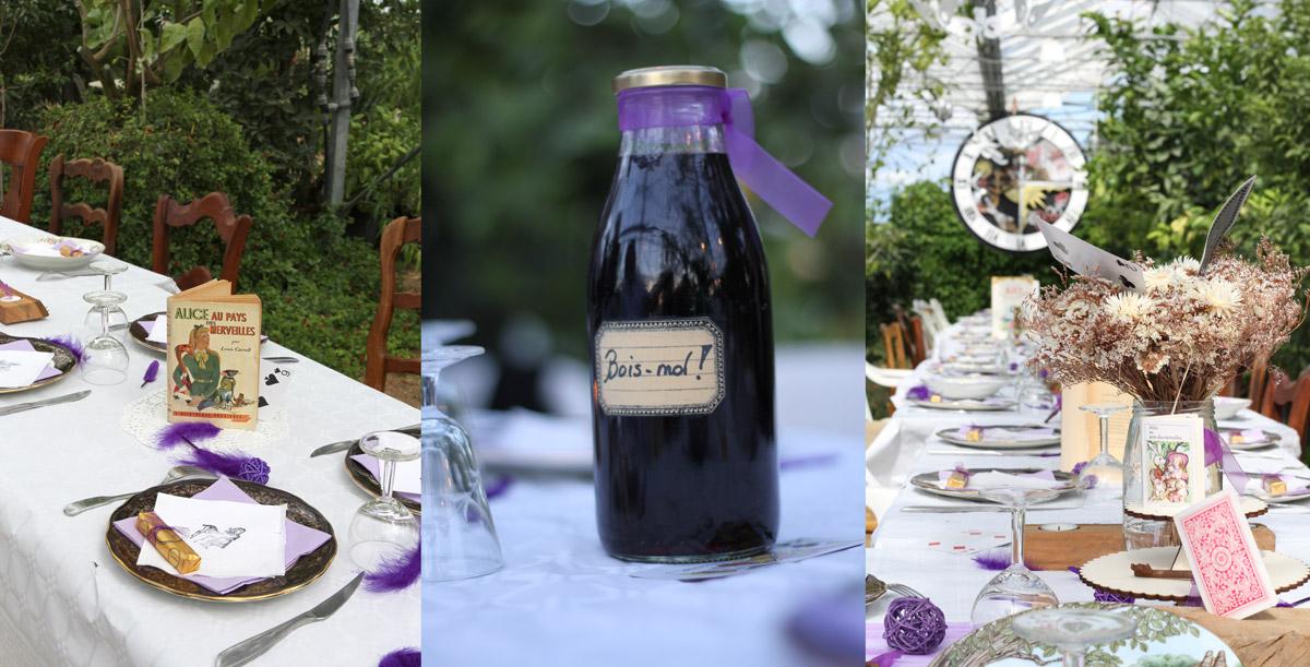 alice-au-pays-des-merveilles_elodievincent-copyright-weblody-11, décorations, bois-moi, horloge, serviette de table