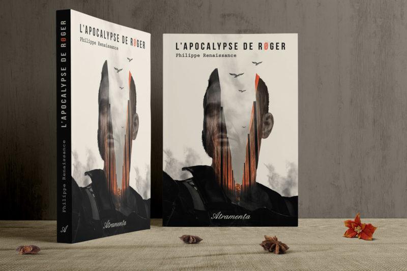 Création couverture de livre SF, double exposition