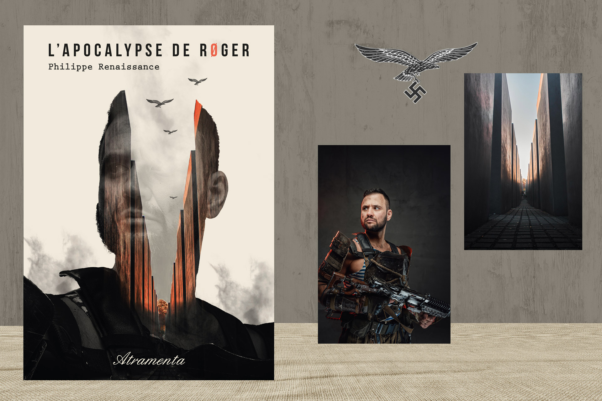 Couverture de livre SF en double exposition